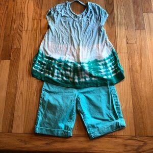 Girls Shorts/Top